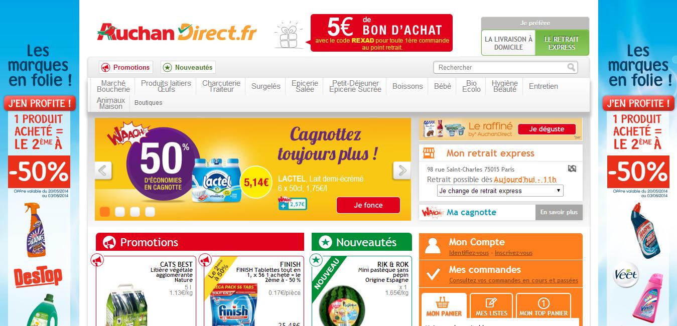Auchan ouvre un drive piéton à Paris